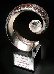 Arch with Crystal Globe Award