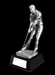 Male Golf Putting Resin Trophy