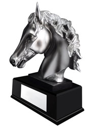 Horse Head Resin Trophy